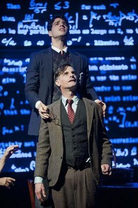 Mark H. Dold as Alan Turing and Mike Donovan as Christopher Morcom.  Photo by Kevin Sprague