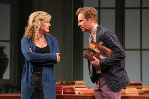 Rene Augesen as Hannah Jarvis and Stephen Barker Turner as Bernard Nightingale. Photo by Joan Marcus