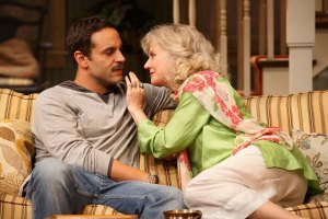 Danieal Sunjata as Michael Astor and Blythe Danner as Anna Patterson.  Photo by Joan Marcus