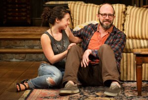 Sarah Steele as Susie, Eric Lange as Elliott.  Photo by Joan Marcus