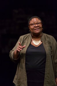Myra Lucretia Taylor as the Stage Manager. Photo by T. Charles Erickson.