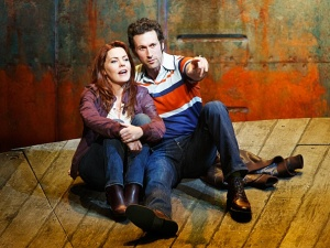 Rachel Tucker and Aaron Lazar. Photo by Joan Marcus.