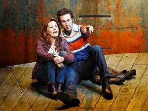 Rachel Tucker and Aaron Lazar. Photo by Joan Marcus.