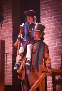 Bob Cratchit and  Tiny Tim. Photo by T. Charles Erickson