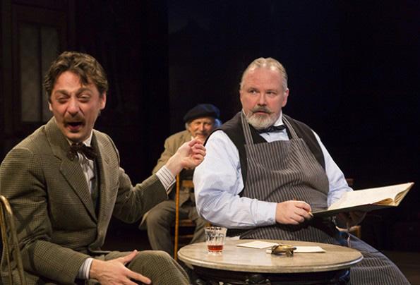 Robbie Tann as Einstein and Tom Rhy Farrell as Freddy. Photo by T. Charles Erickson