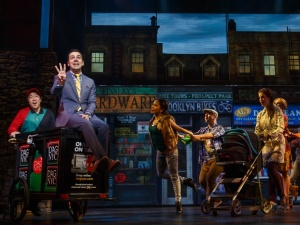 Rob McClure declaring his love in Brooklyn. Photo by Joan Marcus