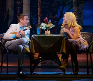 Tony Danza at Tommy woos Betsy  (Brynn O'Malley) in Hawaii. Photo by Joan Marcus
