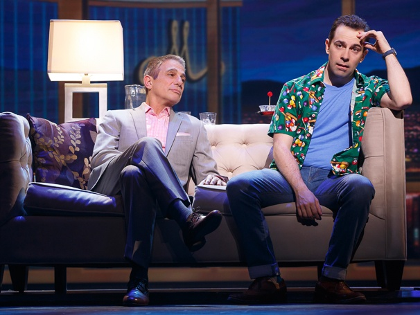 Tommy Korman (Tony Danza) and Jack Singer (Rob McClure). Photo by Joan Marcus