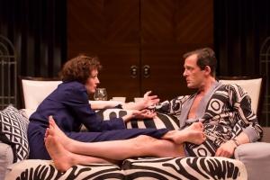 Rachel Pickup as Amanda and Ken Barrett as Elyot.  Photo by T. Charles Erickson