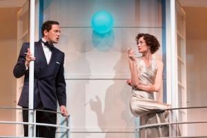 Ken Barrett as Elyot and Rachel Pickup at Amanda. Photo by T. Charles Ericson