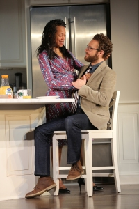 Cherisse Boothe as Tendkikay with Ross Marquand as Chris.  Photo by Joan Marcus