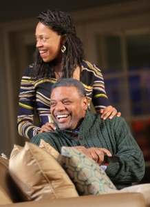 Cherise Boothe as Tendikayi and Harvy Blanks as Donald.  Photo by Joan Marcus.