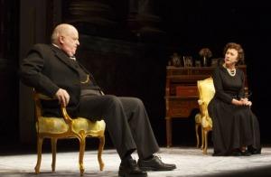 Helen Mirren and Dakin Matthews as Winston Churchill. Photo by Joan Marcus