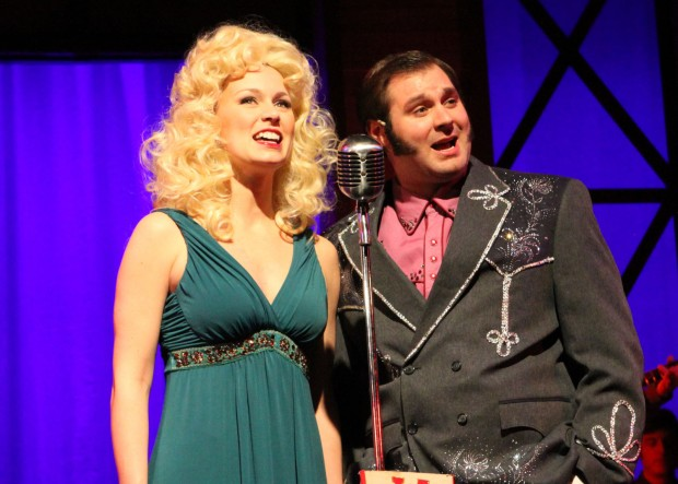Kate Barton as Tammy Wynette and Ben Hope as George Jones