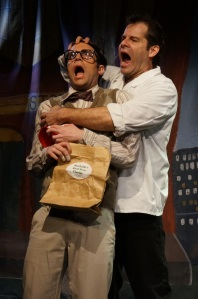 Anthony DiCostanzo as Seymour and Tony Lawson as Orin. Photo by Joe Landry.