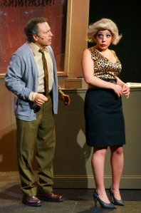 Lou Ursone as Mushnik and Elissa DeMaria as Audrey. Photo by Joe Landry.