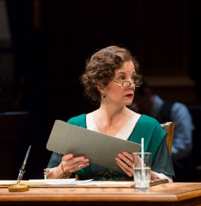 "Margaret Colin as Edith Wilson who was the ""acting"" president. Photo by T Charles Erickson"