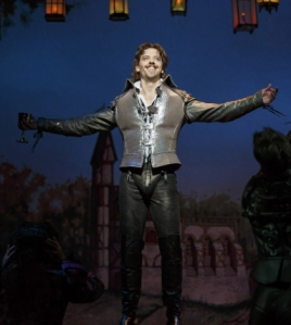Christian Borle as Shakespeare. Photo by Joan Marcus