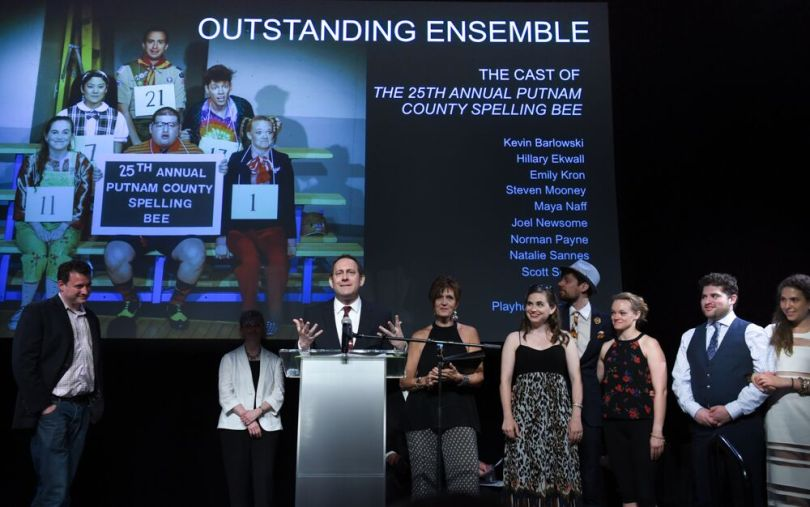 "Outstanding Ensemble - Playhouse on Park's ""The 25th Annual Putnam County Spelling Bee.""  Photo by Mara Lavitt"