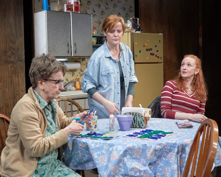 Audrie Neenan (Dottie), Erika Rolfsrud (Margie) and Megan Byrne (Jean).  Photo by Lanny Nagler.