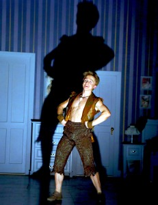 Riley Costello as Peter Pan. Photo by Gerry Goodstein