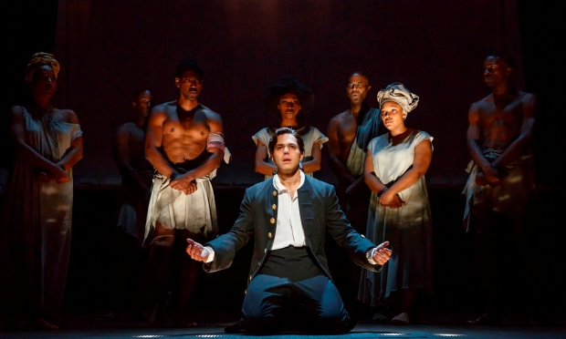 Josh Young as John Newton and members of the cast. Photo by Joan Marcus