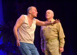 William Selby as Luther Billis and R. Bruce Connelly as Capt. Brackett.photo by Roger U. Williams