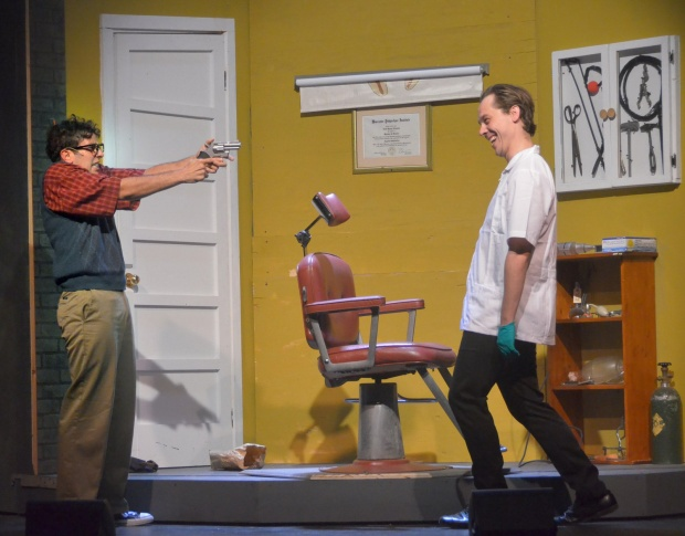 Nicholas Park as Seymour and Carson Higgins as Orin.  Photo by George U. Willilams