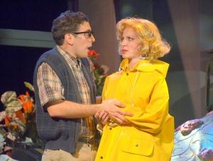 Nicholas Park as Seymour and Laura Woyasz as Audrey.  Photo by George U. Williams.