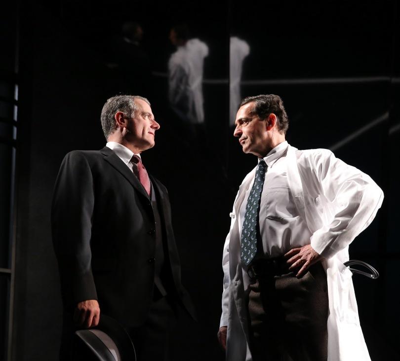 Steven Skybell as Phillip and Ste[jem Schnetzer as Dr. Harry Hyman. Photo by Carol Rosegg