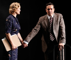 Angela Reed as Margaret and Stephen Schnetzer as Dr. Hyman. Photo by Carol Rosegg