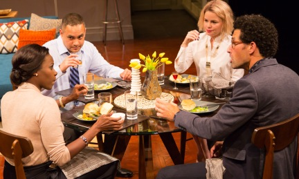 Disgraced LWT 10-15 096 Disgraced By Ayad Akhtar Directed by Gordon Edelstein Long Wharf Theatre October 14 – November 8, 2015 Costume Design: Ilona Samogyi Scenic Design: Lee Savage Lighting Design: Eric Southern © T Charles Erickson Photography tcepix@comcast.net