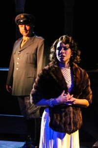Carissa Massaro as The Mistrels with Doandl E. Birely as Juan Peron. Photo by Joe Landry