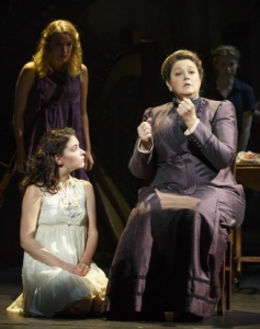 Katie Boeck, Sandra Mae Frank and Camryn Manheim. Photo by Joan Marcus.