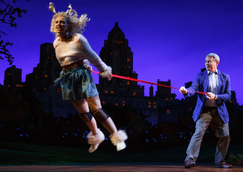 Annaleigh Ashford and Matthew Broderick. Photo by Joan Marcus.
