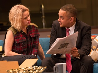 Disgraced LWT 10-15 031 Disgraced By Ayad Akhtar Directed by Gordon Edelstein Long Wharf Theatre October 14 – November 8, 2015 Costume Design: Ilona Samogyi Scenic Design: Lee Savage Lighting Design: Eric Southern © T Charles Erickson Photography tcepix@comcast.net