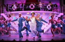 Rashidra Scott as Reno Sweeney and the ensemble. Photo by Diane Sobolewski.