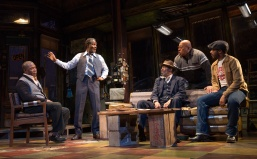 Jitney AUGUST WILSON'S JITNEY Broadway premiere directed by Ruben Santiago-Hudson With Harvy Blanks, Anthony Chisholm, Brandon J. Dirden, André Holland, Carra Patterson, Michael Potts, Keith Randolph Smith, Ray Anthony Thomas, John Douglas Thompson