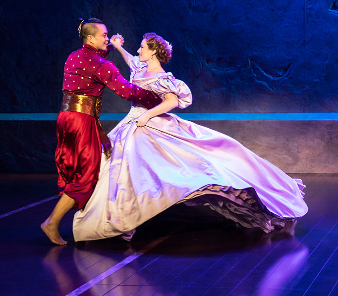 Jose Llana and Laura Michelle Kelly in Rodgers & Hammerstein's The King and I. Photo by Matthew Murphy_0_edited