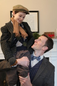 """Bob Cratchit and Tiny Time from """"A Connecticut Christmas Carol."""""""