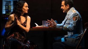 Katrina Lenk and Tony Shalhoub. Photo by Matthew Murphy