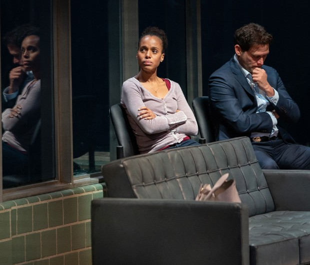 American Son 3 edited Kerry Washington, Steven Pasquale in AMERICAN SON, Photo by Peter Cunningham, 2018