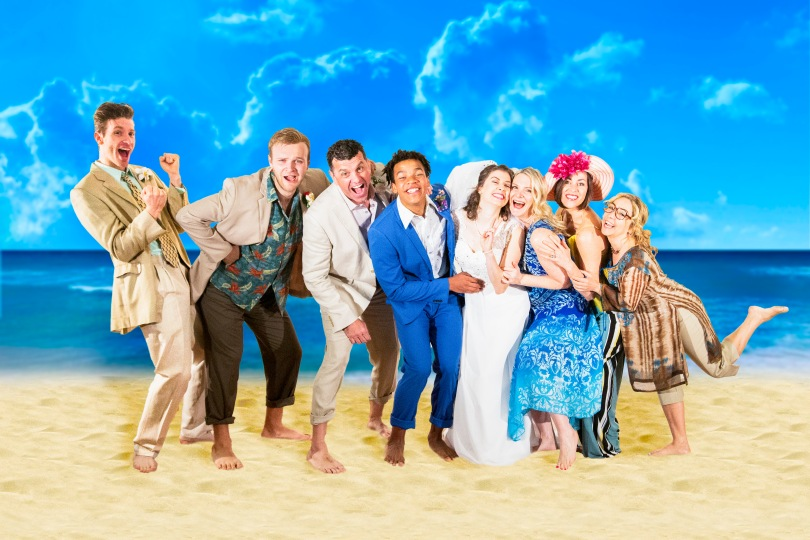 Mamma Mia Publicity Beach Photo crt